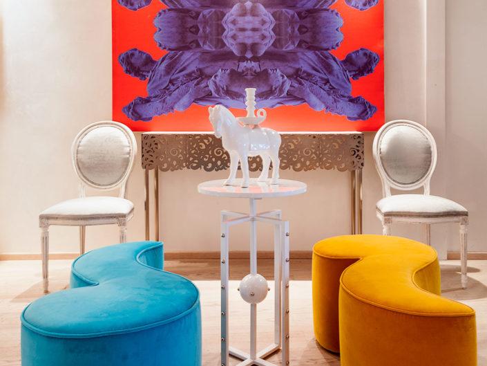 Interno multicolor per il Designer Nicola Falcone.