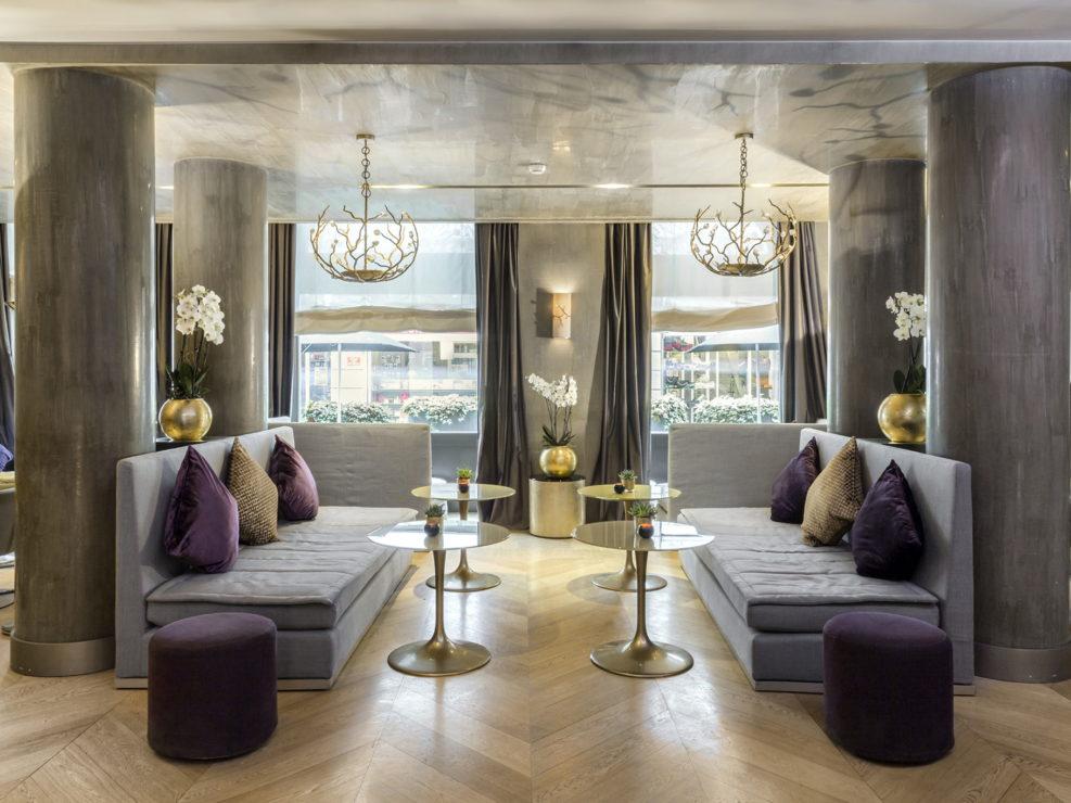 Lounge del Rosa Grand Hotel a Milano