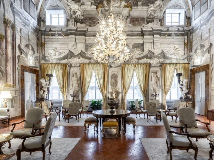 Salone affrescato Palazzo Scali Ricasoli
