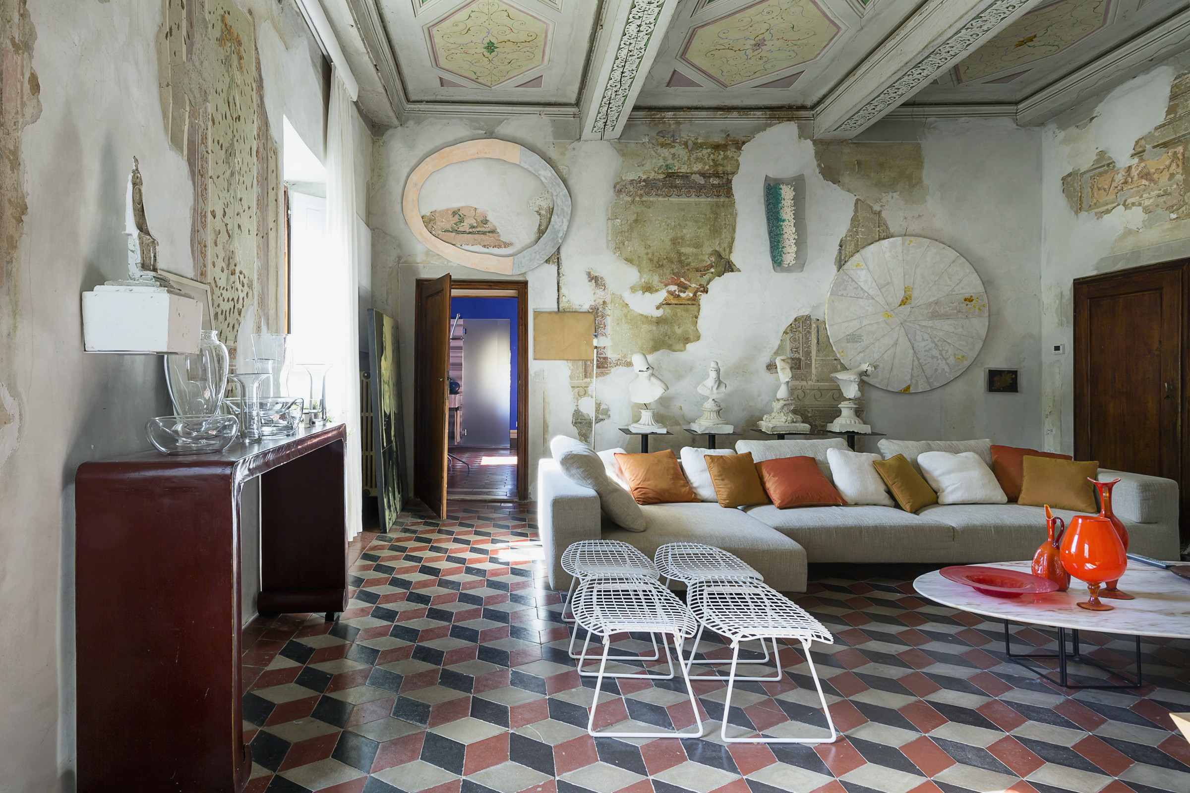 Fotografia interni - soggiorno di Villa Gaeta