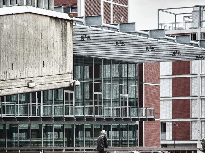 Stazione fotografo di architettura urbana