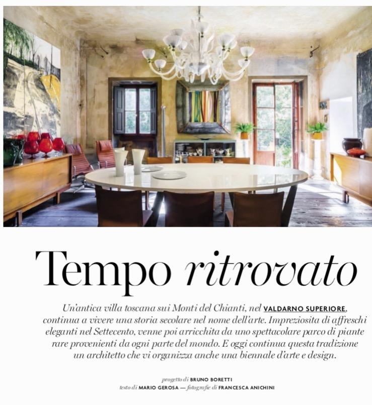 La sala da pranzo di Villa Gaeta- AD italia_ Fotografie di Francesca Anichini