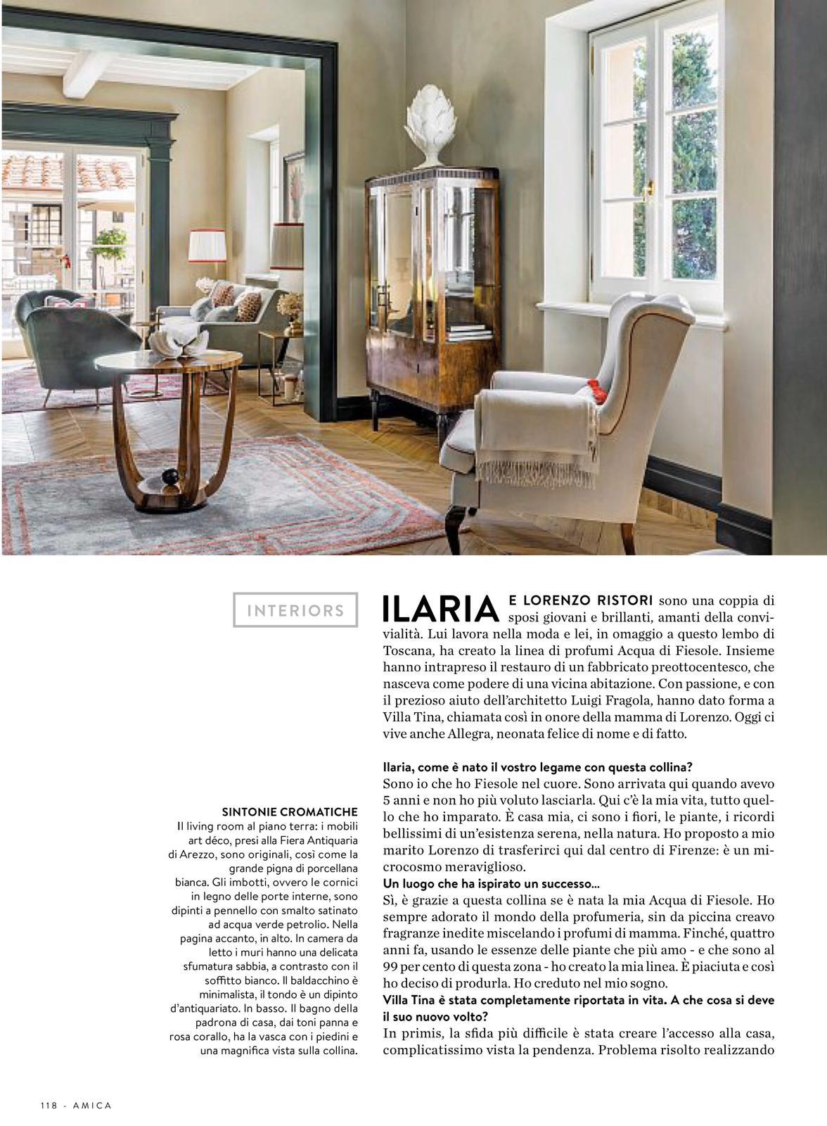 Il soggiorno, servizio fotografico di interni a Fiesole