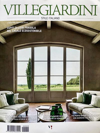 Copertina della rivista di interiors VilleGiardini con foto di_Bolgheri