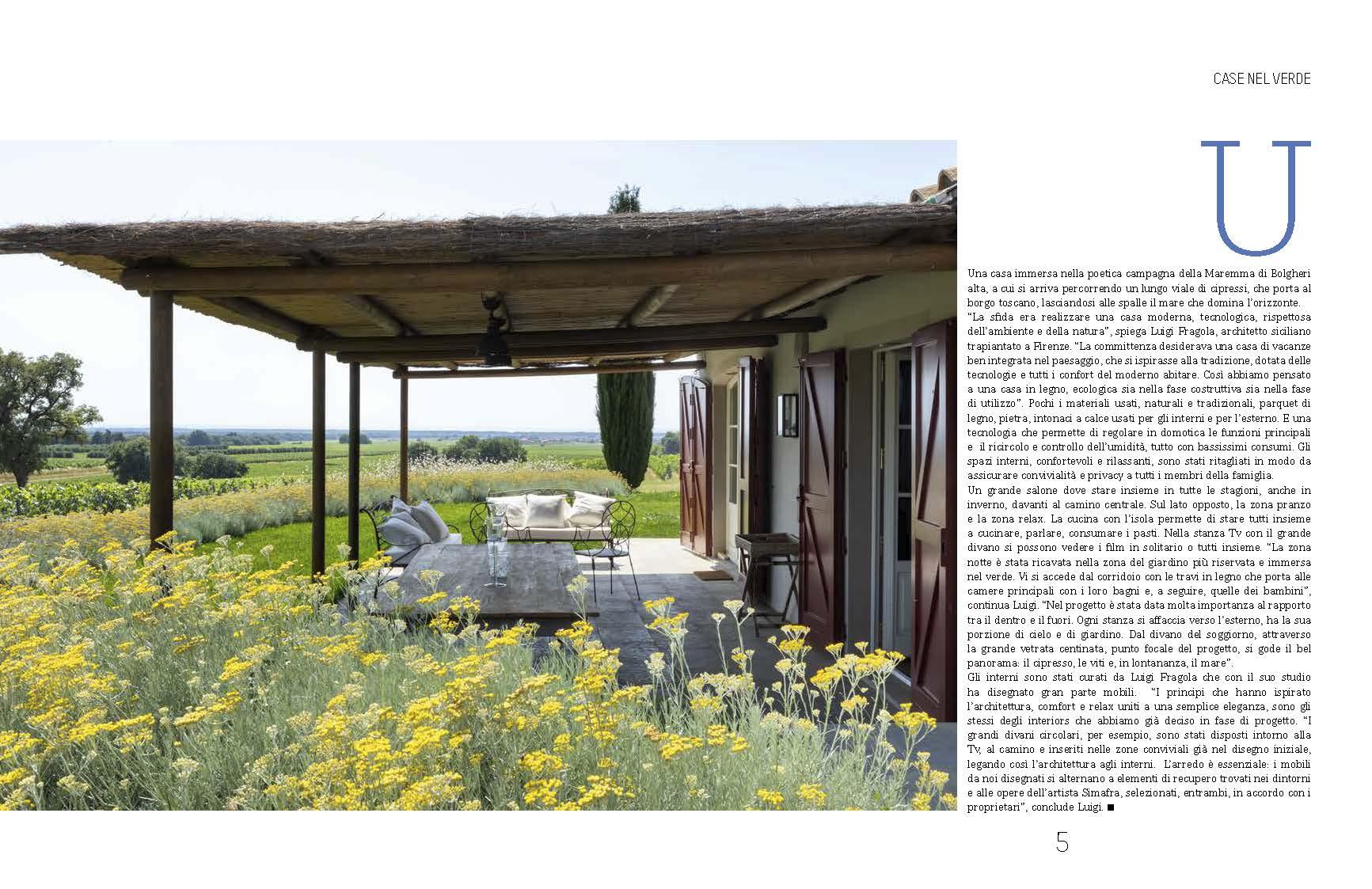 Casa di Bolgheri veranda esterna foto Francesca Anichini