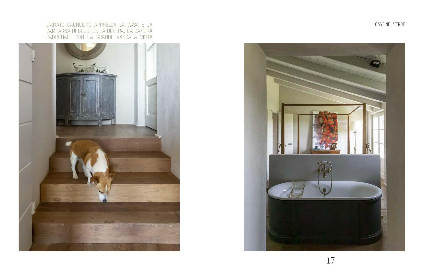 Casa di Bolgheri bagno e scale foto Francesca Anichini
