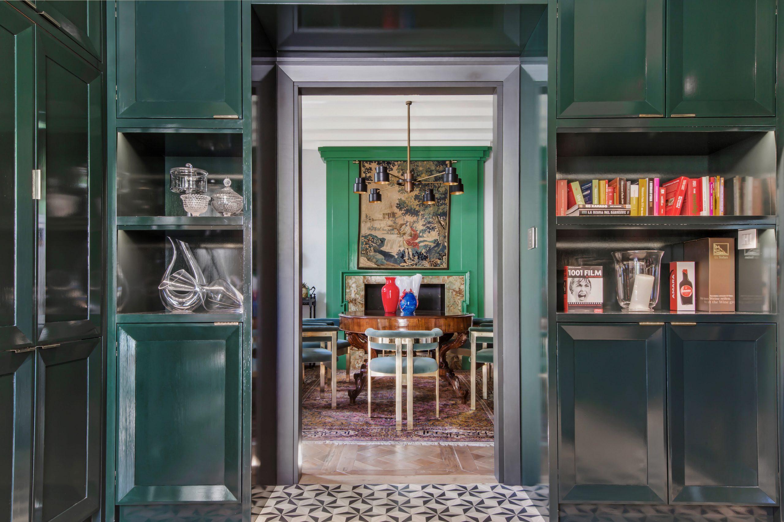 Cucina e sala da pranzo.