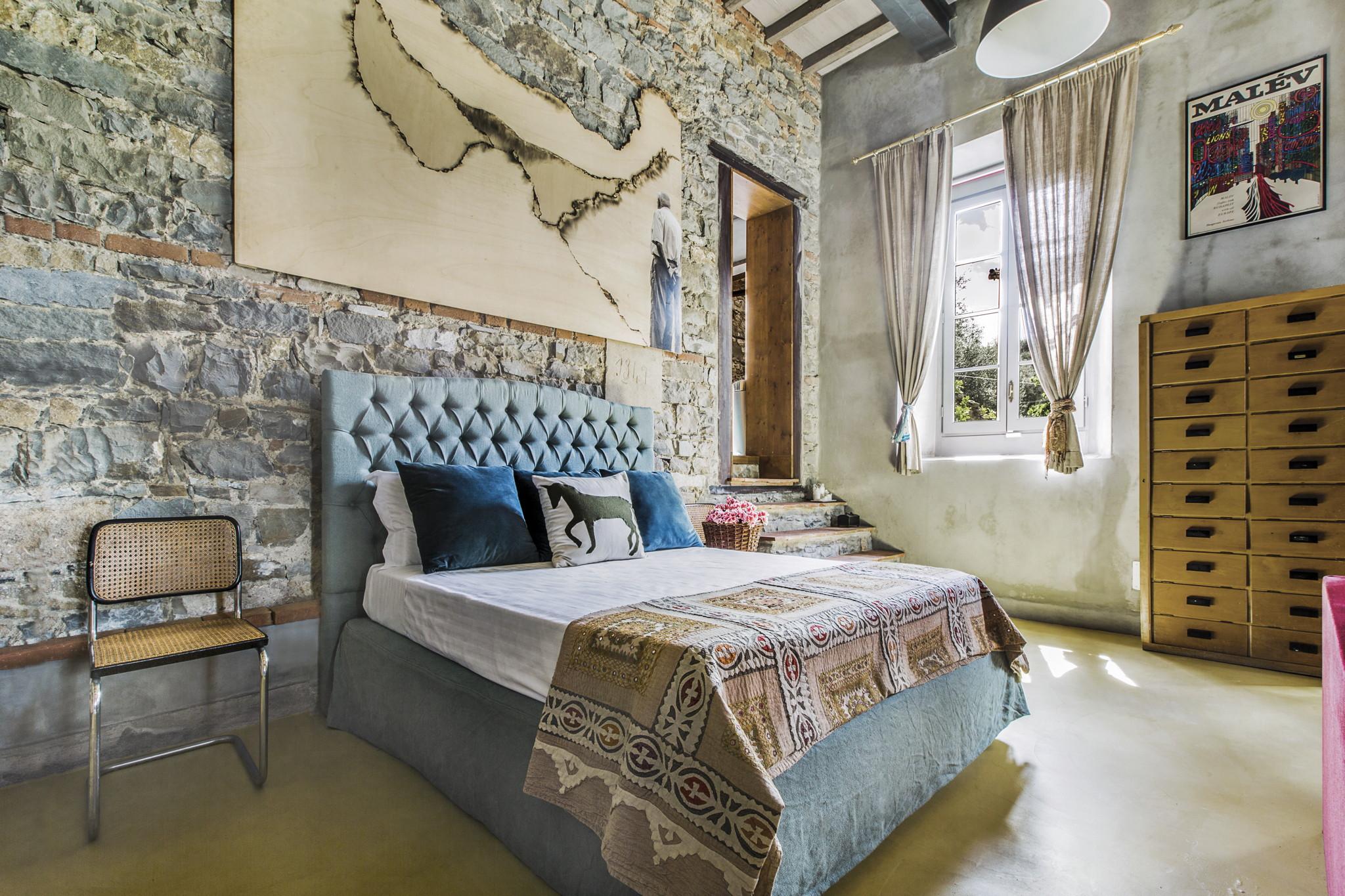 Camera da letto Villa La Piccirella Brass